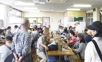 横浜植木の社内で話を聞く参加者