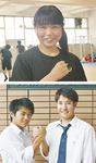 清野さん(写真上)と関東学院の2人