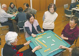 麻雀を楽しむ参加者