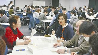 医療職と介護職の連携強化を目指して行われた研修会(昨年12月)