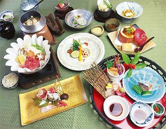 鮮魚などが味わえる会席料理(まさご)