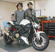 バイク整備工場を新設