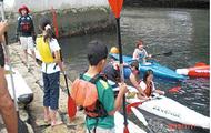 蒔田公園でカヌー体験