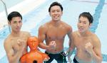 人命救助に出場する(左から)土岐さん、高瀬さん、今井さん