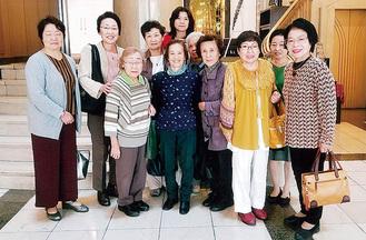 参加した婦人部のメンバー