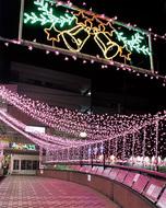 商店街に「桜の光」