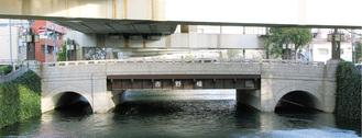 中村川に架かる吉野橋(蒔田公園側から)