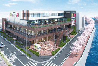 JR西日本不動産開発が公表したイメージパース