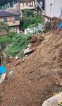 台風15号で崩れた大岡1丁目の崖地