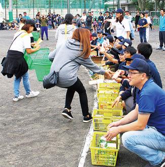 蒔田連合健民祭の買物競走