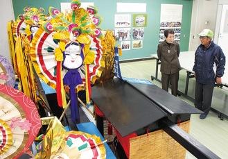 「すけごうルーム」に展示された道具や写真