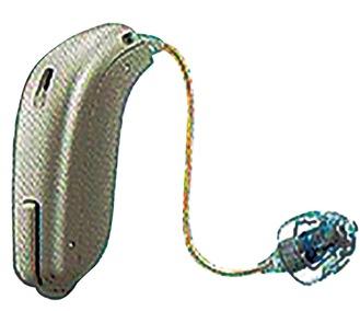 ▲小さくデザイン性も高い「耳かけ式」(防水・防塵対応)
