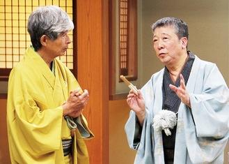 鶴光さん(右)と歌春さん