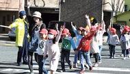 園児 交通ルールを実践