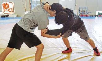 全国大会に向け練習に励む小澤さん(写真右)