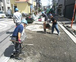 中原建設が担当した南区内の道路舗装、補修