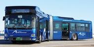 市内初の連節バス