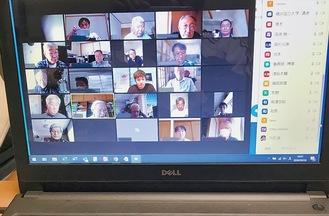 保土ケ谷区の町内会がオンラインで会議を行った様子