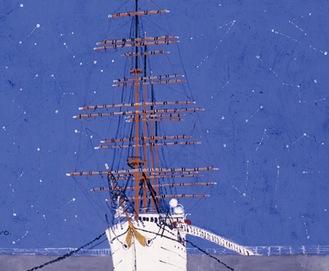 作品「星空の帆船日本丸」