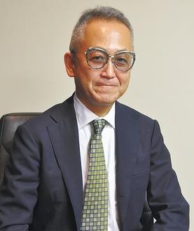 インタビューに応じる大庭良治会長(うちゅうこども園・うちゅう保育園)