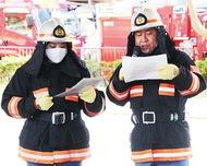 外国人避難誘導 初の訓練