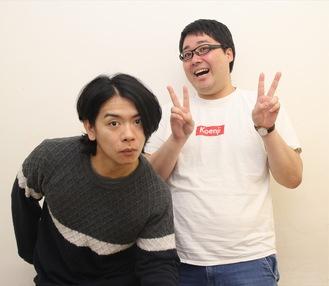 マヂカルラブリーの野田さん(左)と村上さん(2017年12月撮影)