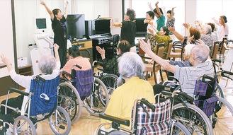 アズハイム横浜上大岡で行われた健康体操