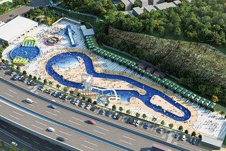 再整備後のプールのイメージ(横浜市提供)