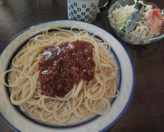 ランチのスパゲティ