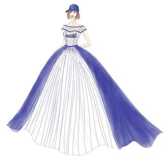 ユニフォームデザインを活かしたドレス