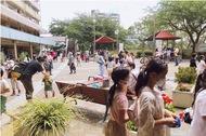 南永田団地の恒例行事「つながり祭」がコロナ前のにぎわいを見せ、異国交流で笑顔も