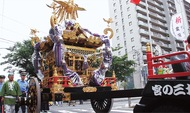 日枝神社 大神輿を公開