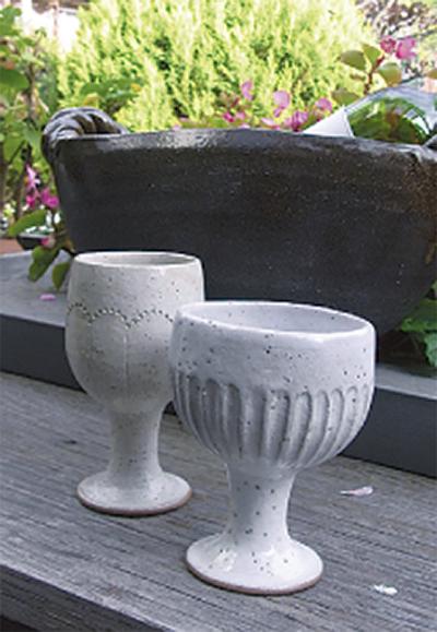 陶器のワインカップ作り