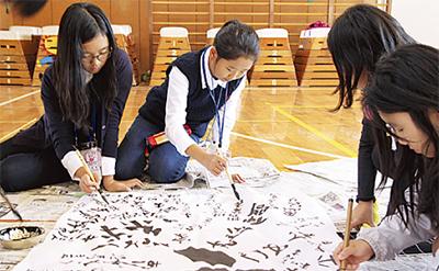 韓国の学校と交流