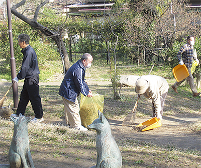 3町会で公園清掃