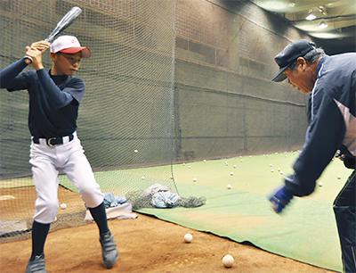 元プロ選手指導の「野球塾」