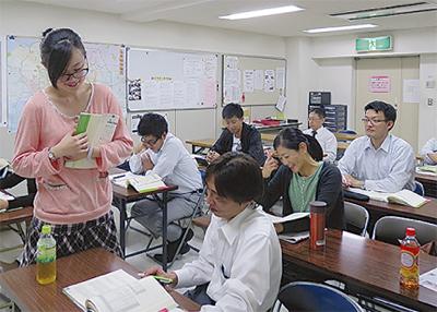 留学生が講師の教室