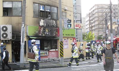 浦舟の弁当店で火災