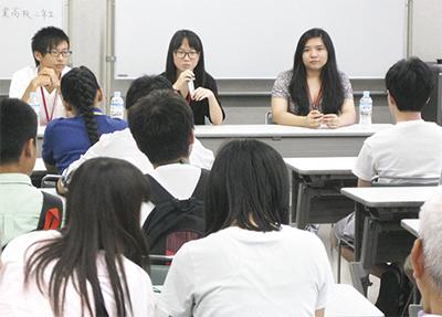 外国籍生徒が交流