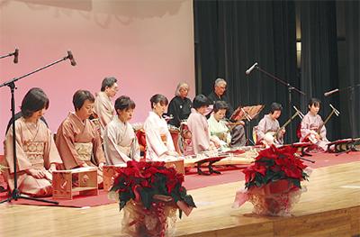 伝統文化感じる演奏会