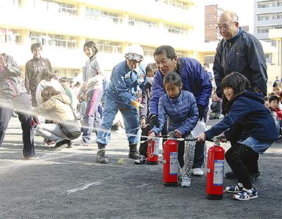 児童が訓練初参加