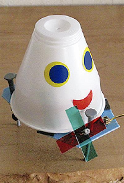 科学工作教室でロボットを作る