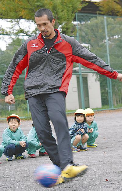 元日本代表が園児指導
