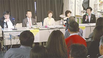 学校のあり方を市議と市民議論