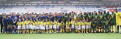 アフリカ大使と親善試合