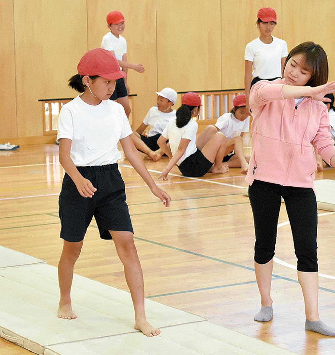 元体操五輪選手が授業