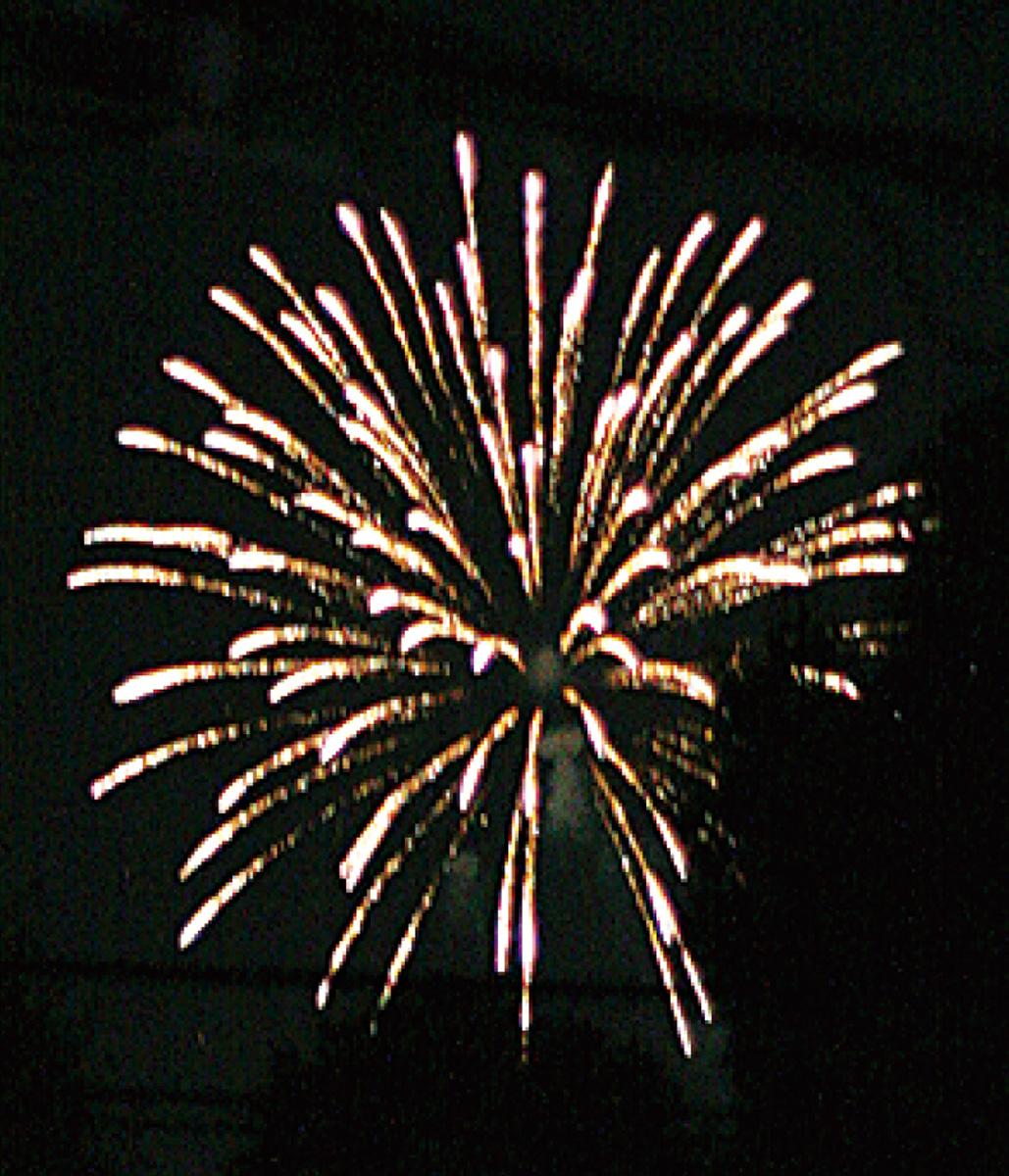 祭りで打ち上げ花火