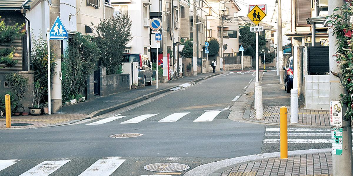 死亡事故が起きた中島町の交差点