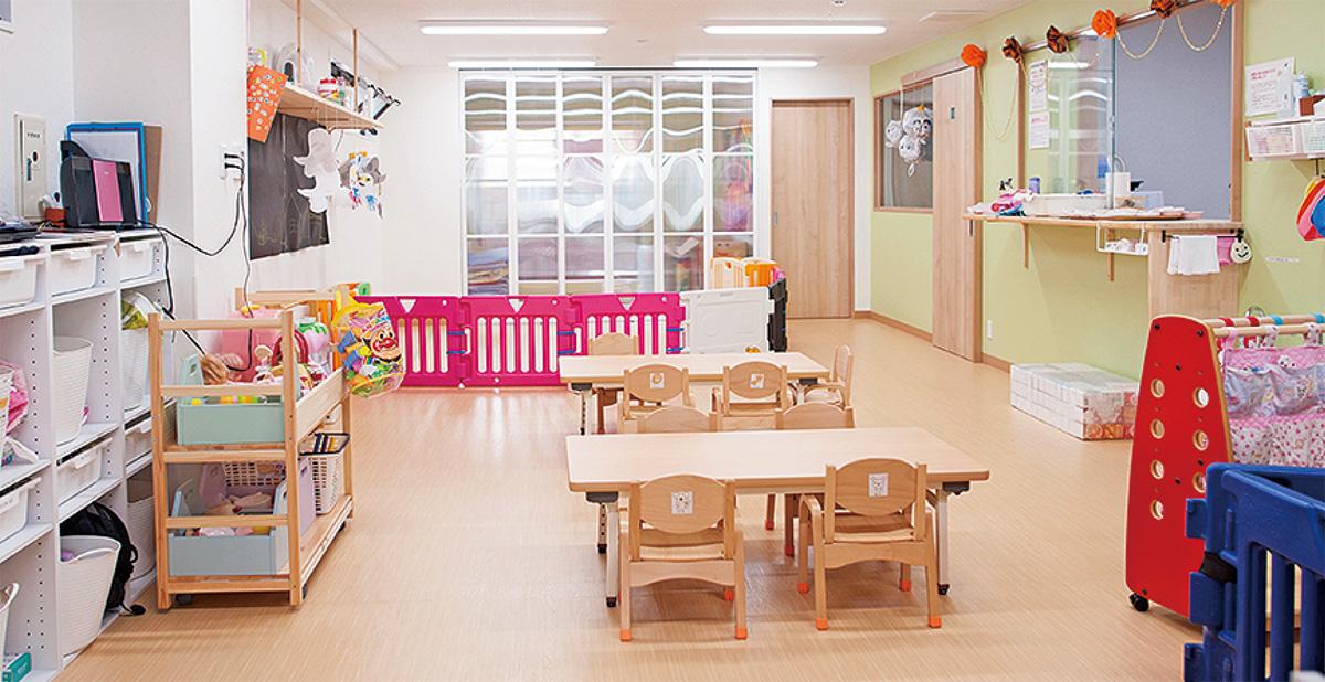 NPOが運営する保育園の室内