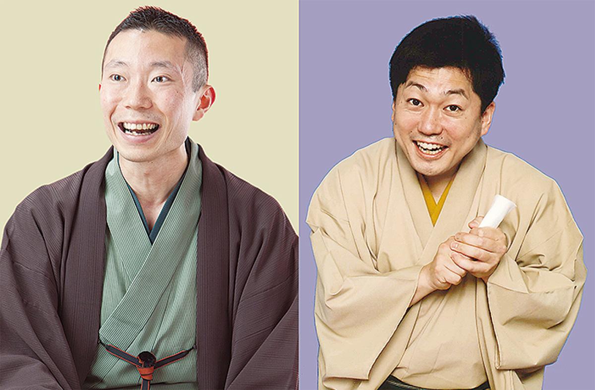 笑福亭希光さん(右)と桂伸三さん